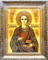 Янтарная икона Пантелеймон 2