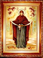 Янтарная икона Покрова (5)
