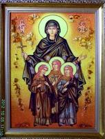 Янтарная икона Религиозный сюжет (11)