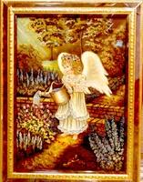 Янтарная икона Религиозный сюжет (12)