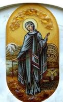 Янтарная икона Религиозный сюжет (14)