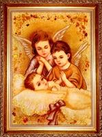 Янтарная икона Религиозный сюжет (17)