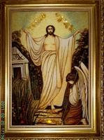 Янтарная икона Религиозный сюжет (19)
