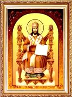 Янтарная икона Религиозный сюжет (21)