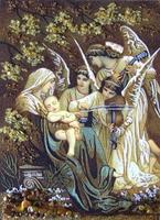 Янтарная икона Религиозный сюжет (28)