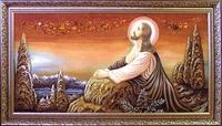 Янтарная икона Религиозный сюжет (29)