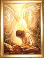 Янтарная икона Религиозный сюжет (33)