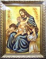 Янтарная икона Религиозный сюжет (37)