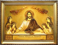 Янтарная икона Религиозный сюжет (39)