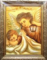 Янтарная икона Религиозный сюжет (40)