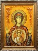 Янтарная икона Религиозный сюжет (43)