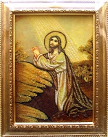 Янтарная икона Религиозный сюжет (44)