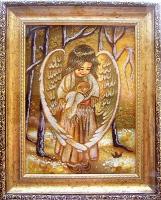Янтарная икона Религиозный сюжет (47)
