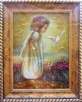 Янтарная икона Религиозный сюжет (48)