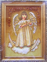Янтарная икона Религиозный сюжет (50)