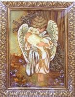 Янтарная икона Религиозный сюжет (51)