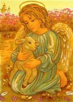 Янтарная икона Религиозный сюжет (57)