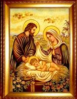 Янтарная икона Рождество (1)