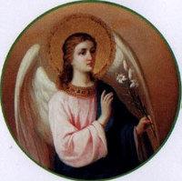 Печатная большая икона Ангел