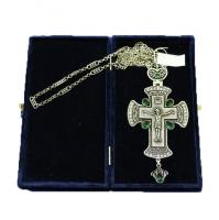 Крест наперсный серебренный МР-КРСВ-09-З