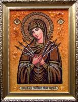 Янтарная икона Семистрельная (22)