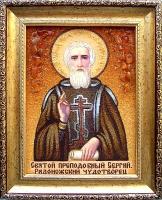 Янтарная икона Сергей 1