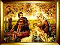 Янтарная икона Св.Семья (Св.Родина) (10)