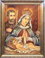 Янтарная икона Св.Семья (Св.Родина) (13)