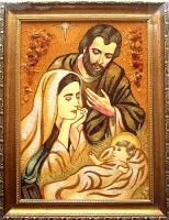 Янтарная икона Св.Семья (Св.Родина) (15)