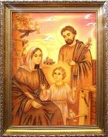 Янтарная икона Св.Семья (Св.Родина) (17)