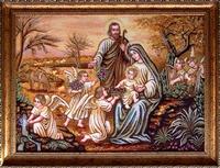 Янтарная икона Св.Семья (Св.Родина) (2)
