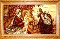 Янтарная икона Св.Семья (Св.Родина) (3)