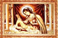 Янтарная икона Св.Семья (Св.Родина) (4)
