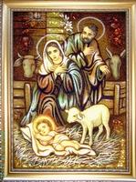 Янтарная икона Св.Семья (Св.Родина) (6)