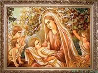 Янтарная икона Св.Семья (Св.Родина) (7)
