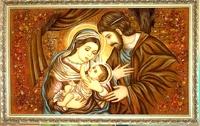 Янтарная икона Св.Семья (Св.Родина) (8)