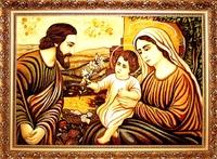 Янтарная икона Св.Семья (Св.Родина) (9)