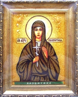 Янтарная икона Валентина 2