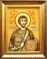Янтарная икона Валерий 3