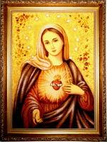 Янтарная икона Венчальная (16)