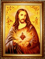 Янтарная икона Венчальная (17)