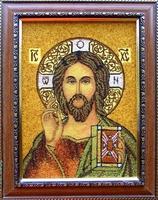Янтарная икона Венчальная (19)