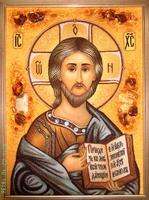 Янтарная икона Венчальная (24)