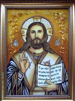 Янтарная икона Венчальная (32)