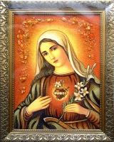 Янтарная икона Венчальная (34)