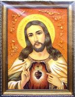 Янтарная икона Венчальная (35)