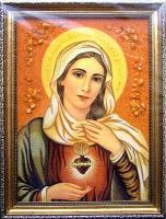 Янтарная икона Венчальная (36)