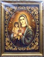 Янтарная икона Венчальная (38)