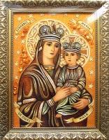 Янтарная икона Венчальная (41)