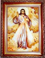 Янтарная икона Венчальная (5)